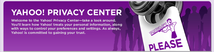 Yahoo Privacy Center Image